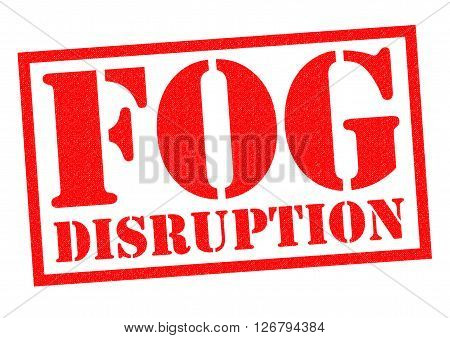FOG DISRUPTION red Rubber Stamp over a white background.