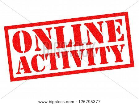 ONLINE ACTIVITY red Rubber Stamp over a white background.