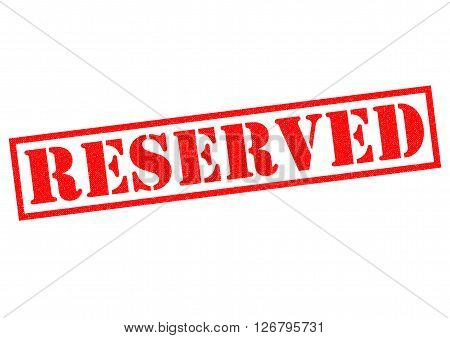 RESERVED red Rubber Stamp over a white background.
