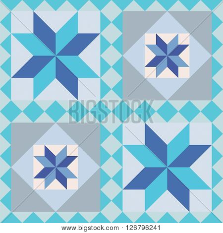 Repeating geometric seamless pattern. Abstract colorful background vector.