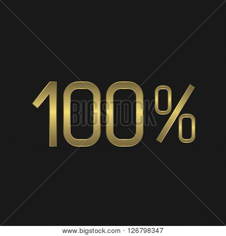 One hundred percents. Quality satisfaction certificate guarantee concept