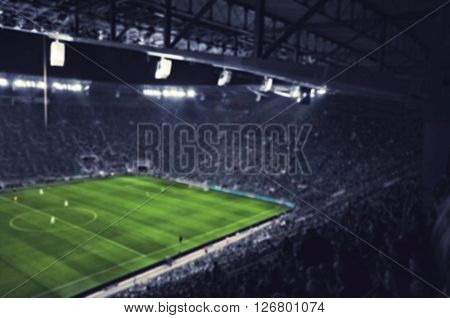 blurred football stadium as sport football background