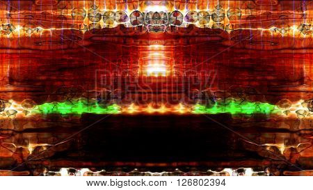 Futuristic video screen display pixels creating an abstract pattern. High resolution illustration 10609.
