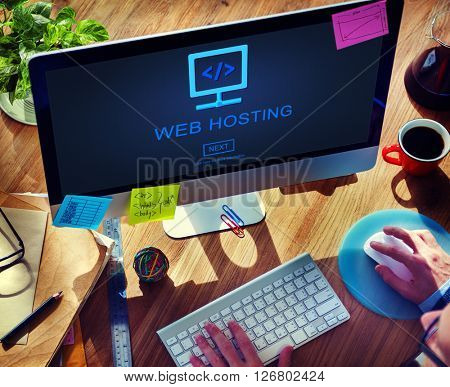 Web Hosting Data Adverstising Network Provider Concept