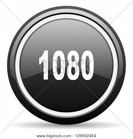 1080 black circle glossy web icon