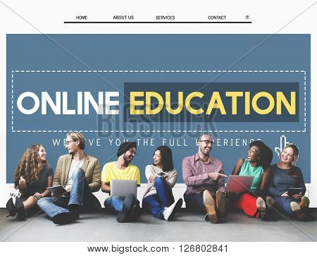 Online Education Homepage E-learning Technology Concept