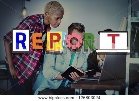 Report Research Information Minutes Article News Concept