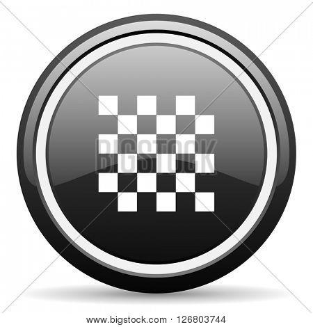 chess black circle glossy web icon