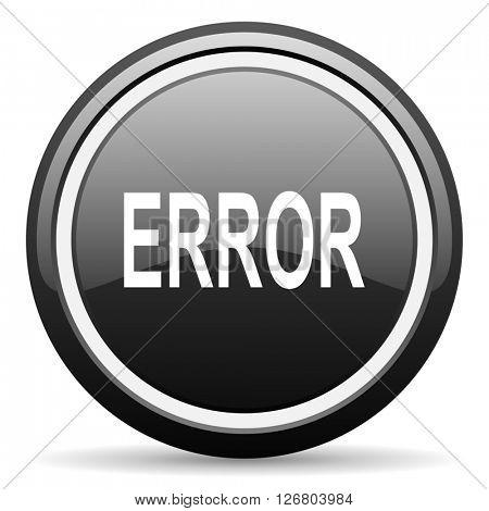 error black circle glossy web icon
