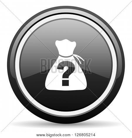 riddle black circle glossy web icon