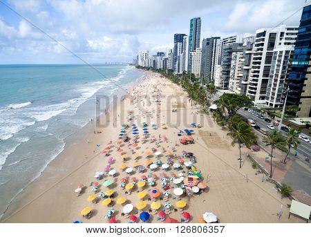 Aerial View of Boa Viagem Beach, Recife, Brazil