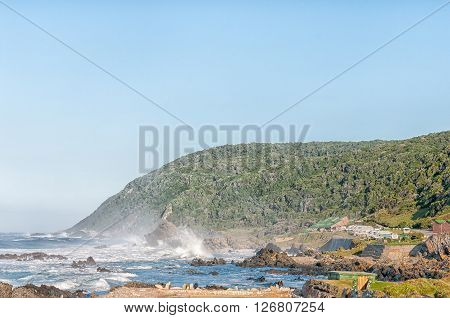 STORMS RIVER MOUTH SOUTH AFRICA - FEBRUARY 29 2016: Early morning at Storms River Mouth Rest Camp