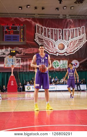 Bc Royal Hali Gaziantep Forward Dejan Borovnjak (14) Prepares To Shoot A Free Throw