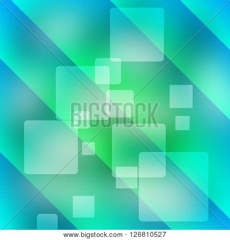 Blue Shiny Squares