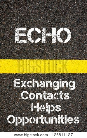 Business Acronym Echo Exchanging Contacts Helps Opportunities