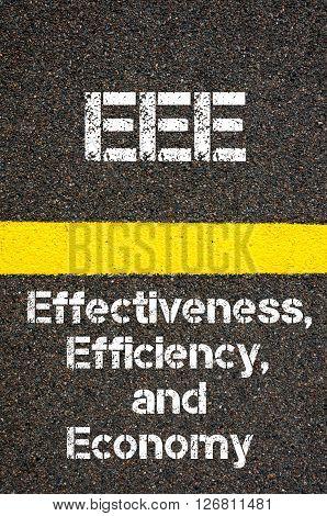 Business Acronym Eee Effectiveness, Efficiency, And Economy