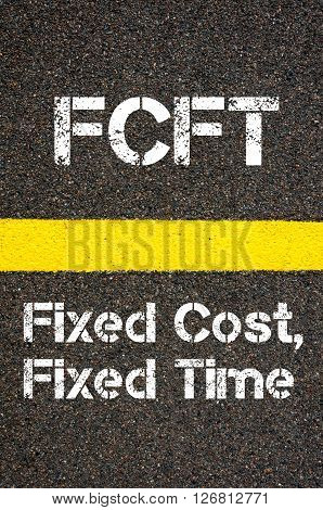 Business Acronym Fcft Fixed Cost, Fixed Time