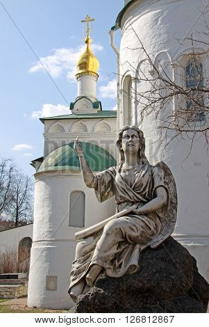 Moscow, Russia - April 24, 2011: Statue Of Angel In Novodevichy Convent, Moscow