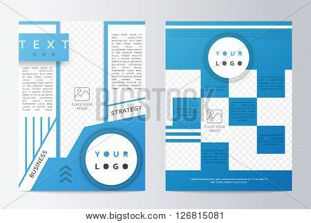 Business brochure. Brochure Flyer design. Mockup front page and back page. Brochure Layout template. Easy to use and edit.  Business paper. Presentation sheet