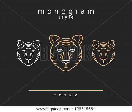Monogram bear. Totem bears. A set of monogrammed bears.