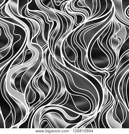 Stunning seamless abstract design in black and white.