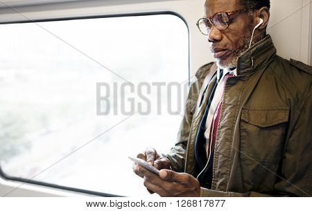 African Descent Business Skytrain Transit Urban Concept
