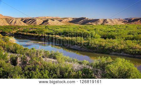 Rio Grande River flows through Big Bend National Park