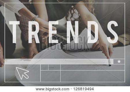 Trends Trendy Design Modern Style Concept