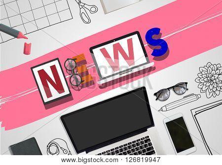 News Update Information Global Communication Concept