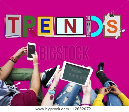 Trends Design Modern Trendy Fashion Concept