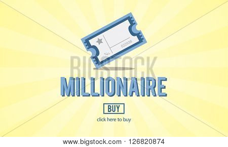Millionaire Luxury Achievement Business Prize Concept