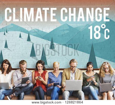 Climate Change Natural Planet Temperature Concept