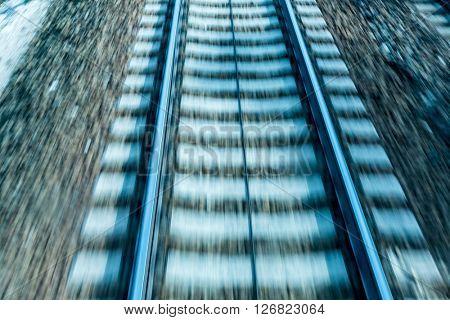 rails with soft blur