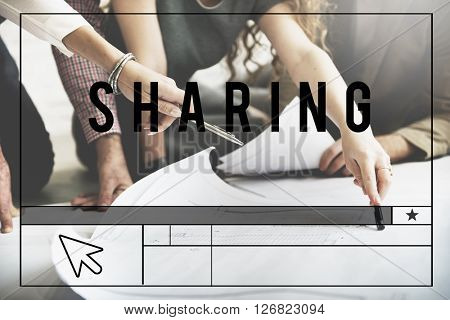 Sharing Caring Share Opinion Social Networking Concept