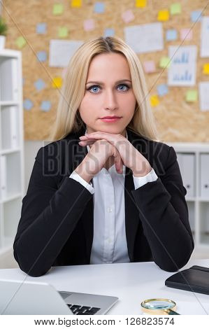 Concentrated Businesswoman
