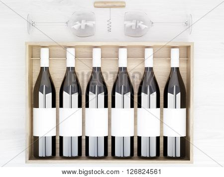 Wine Bottles Blank Labels
