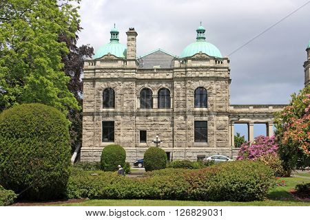 British Columbia Parliament building in Victoria, Vancouver Island