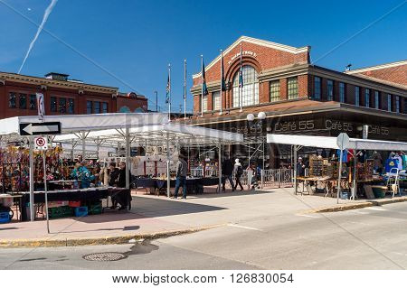 Ottawa Canada - 15th April 2016: Byward Covered Market in Ottawa