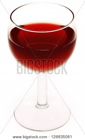 Glass of Red Wine. Isolated on a white background.