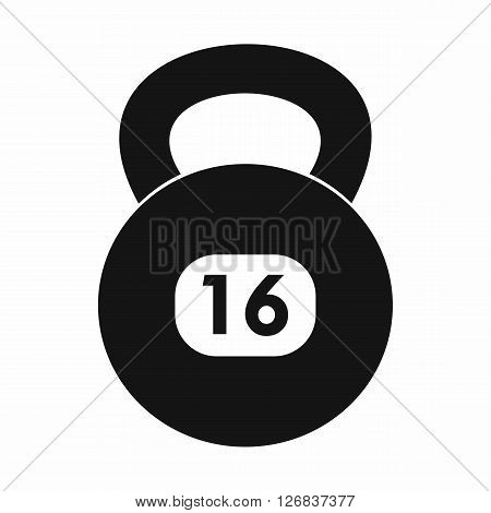 Kettlebell icon in simple style on a white background