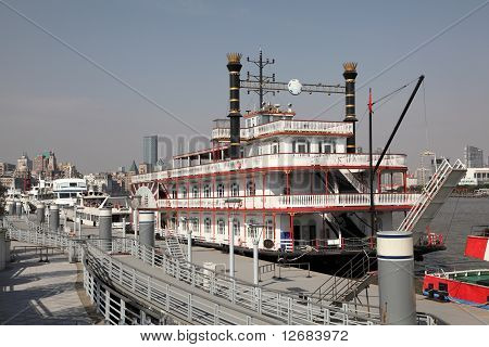 Sightseeing Boats In Shanghai, China