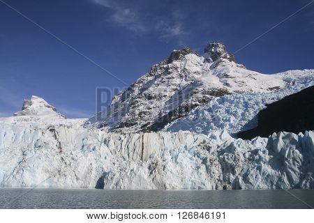 View of the Upsala Glacier Patagonia Argentina.