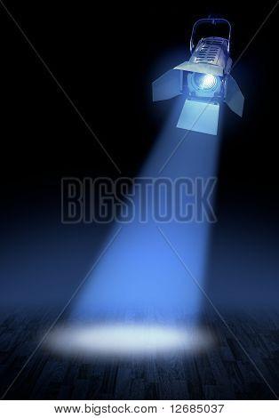 Stage Spotlight Glow
