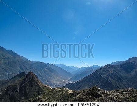 Mountain at Omega Bend of Yangtze River Yunnan China