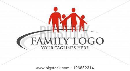 happy family logo.Social media logo symbol. Teamwork sign. Friendship logo sign. Vector logo template