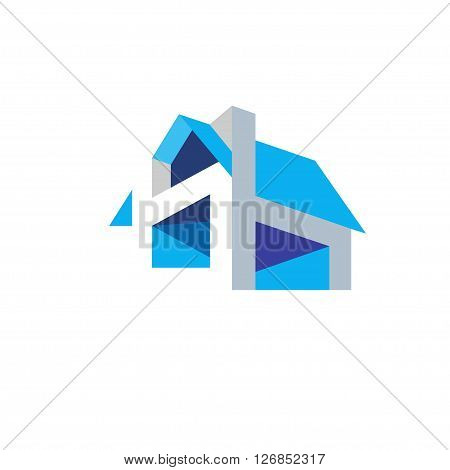 House Design Concept Geometric flat color Logo