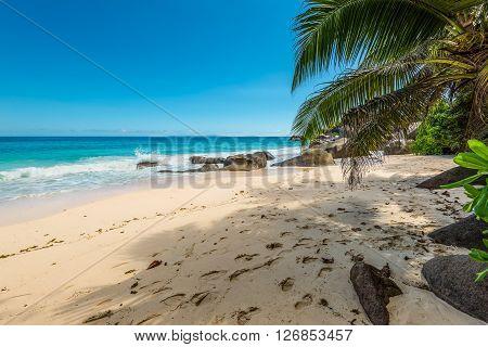 Spectacular Carana Beach on the Northern end of Mahe Island Seychelles