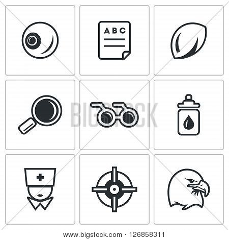 Eye, Test, Magnifier, Glasses, Drops, Doctor, Aim, Eagle