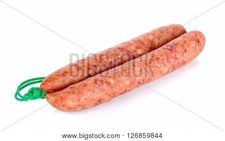 Chinese Sausages Isolated On The White