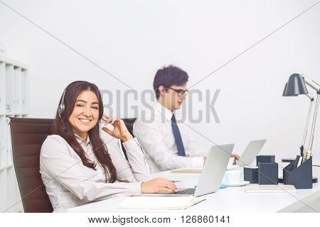 Pretty Smiling Operator